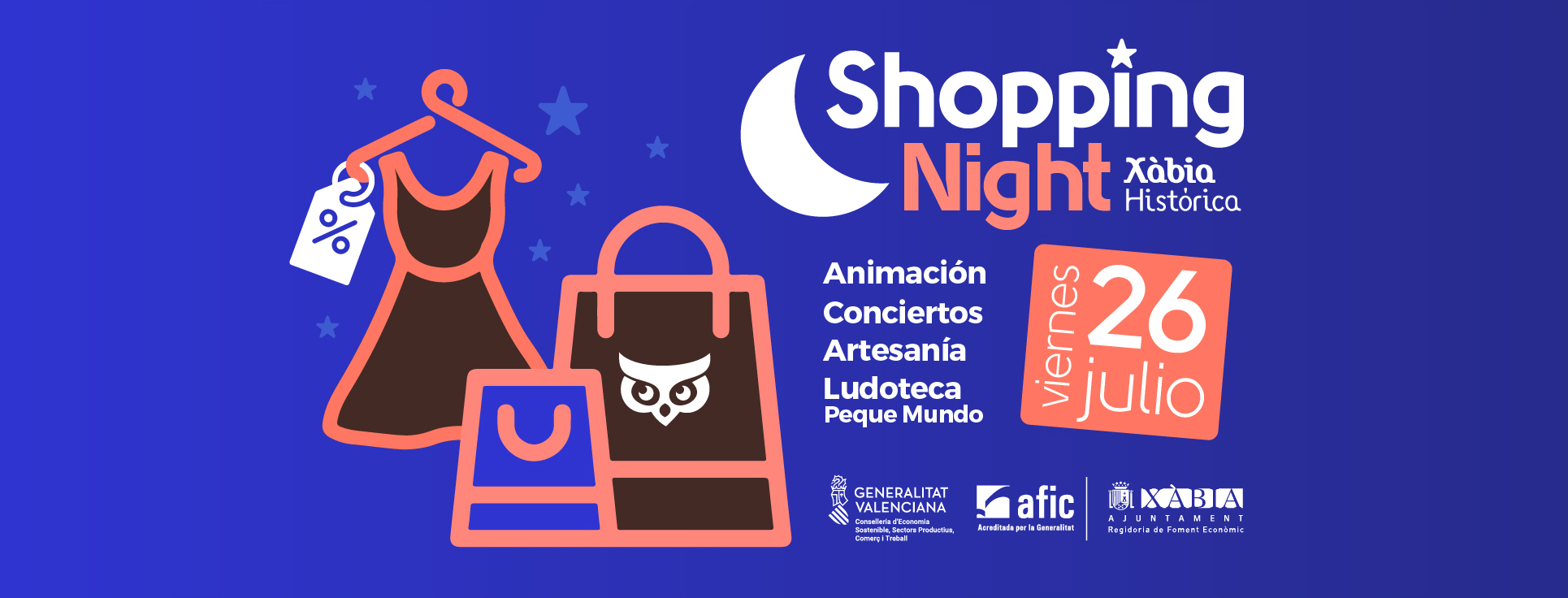 portada face shopping night juliol 2019 xabia historica