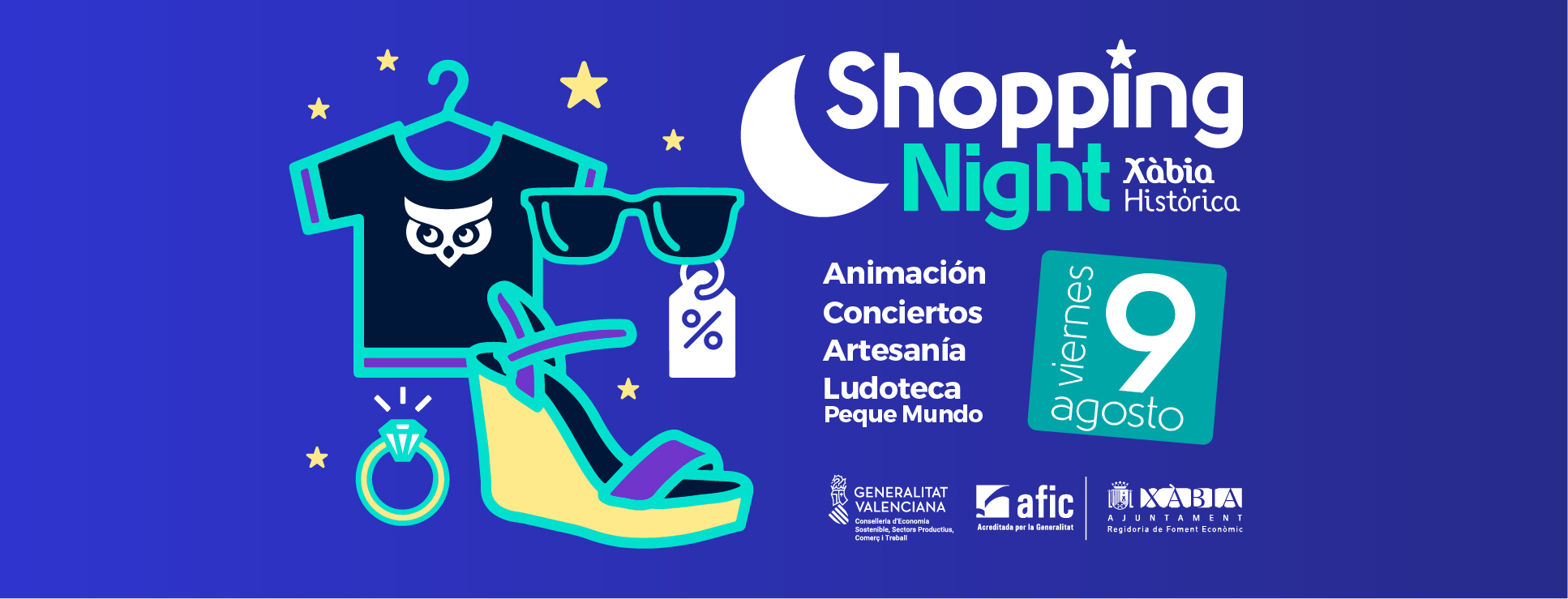 portada facebook shopping night agost 2019